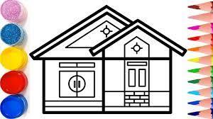 Vẽ ngôi nhà và tập tô màu cho bé | Dạy bé vẽ | Dạy bé tô màu | House Dra...