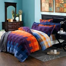 plaid bedding sets full size purple blue and yellow orange plaid design modern chic bedding sets