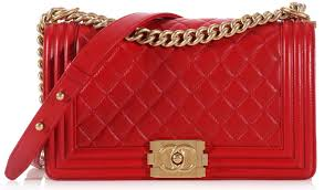 100% AUTHENTIC CHANEL RED QUILTED LAMBSKIN MEDIUM BOY FLAP BAG GHW ... & 100% AUTHENTIC CHANEL RED QUILTED LAMBSKIN MEDIUM BOY FLAP BAG GHW Adamdwight.com