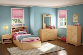 black bedroom furniture for girls. Girls Bedroom Set Features With Beige Wood Headboard Bed Along Stripped Patterned Covered Bedding Black Furniture For