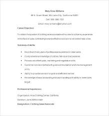 Retail Sales Resume Samples Magnificent Retail Sales Associate Resume Cover Letter For Retail Sales Charming