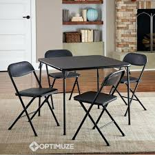4 chair dining table set folding dining table set of 5 table and 4 chairs black 4 chair dining table set