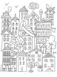 Vettoriale Pagina Disegnata A Mano Per Libro Da Colorare Con Un