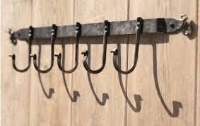 wrought iron wall coat hooks