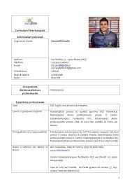 Cv Format Europass Doc Resume Pdf Download