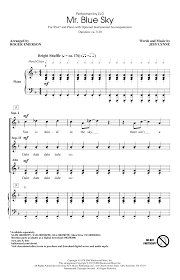 mr blue sky piano sheet music free mr blue sky arr roger emerson choral ssa sheet music by by