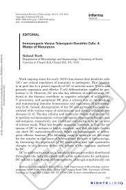 unc chapel hill essay feedback immunogenic versus tolerogenic dendritic cells a matter of
