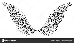 ангелы крылья элемент декоративного стиля барокко векторные