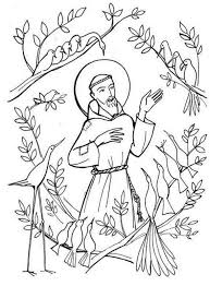 St Francis Of Assisi Coloring Pages For Catholic Kids Embroidery