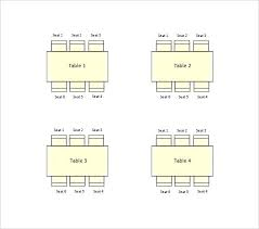 Dinner Table Seating Chart Template Arianet Co