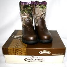 Realtree Camo Youth Cowboy Boots Dustin Jr