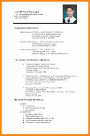 7 Basic Resume Examples For Objective Letter Signature