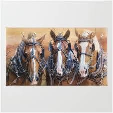 work horses dominate western themed area rug