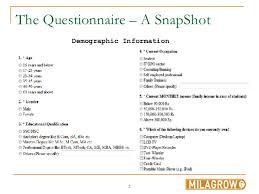 Demographics Questionnaire Template Barca Fontanacountryinn Com