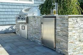 stone veneer outdoor kitchen on long island panels brick and