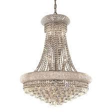 elegant lighting primo 24 in 14 light chrome crystal crystal empire chandelier