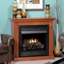 empire vail 26 vent free special edition natural gas fireplace with wooden mantel nutmeg vfd 26 fm30 nn