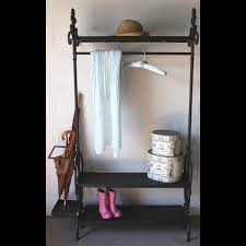 Coat Stand And Shoe Rack Black Vintage Style Clothes Rail Coat Stand at Divine Interiors and 41