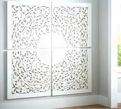 carved wall decor wood medallion custom art panels set of 4 white whitewash elegant w