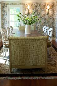 dining wing chair dining room transitional with wallpaper with pattern english cote contemporary interior designers