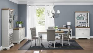 bentley designs hstead soft grey pale oak 6 8 rectangular dining table 6 upholstered olive grey bonded leather chairs 8007 8 09ub 6 me home