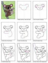 the only thing cuter than a koala is a koala and a baby this koala drawing may look pretty detailed but it s really just one shape drawn in two sizes