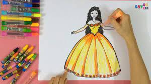 Dạy bé học tập vẽ nàng công chúa