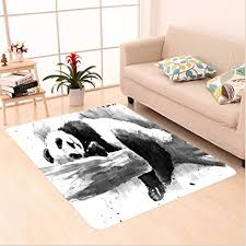 Painting Dining Room Awesome Amazon Nalahome Custom Carpet R Panda Lying On A Tree Branch