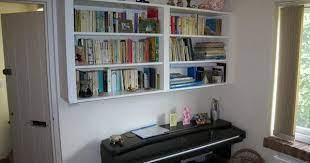 hanging wall mounted bookcase vizimac
