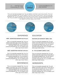 Iwork Resume Templates Modern Circles Resume Template Free Iwork Templates