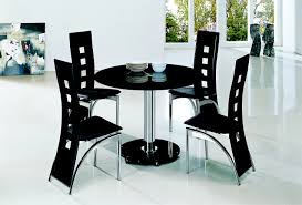 planet black round glass dining table with alison chairs implex supplies