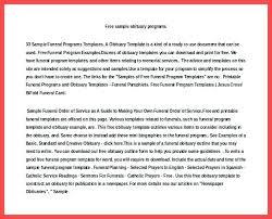 Sample Obituary Templates Gallery Template Design Ideas