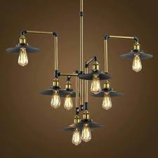chandelier style industrial style 8 light large led pendant chandelier commercial coffee bar lighting fixture diffe