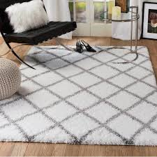 interior architecture marvelous white trellis rug in deal alert nuloom contemporary viscose grey from white