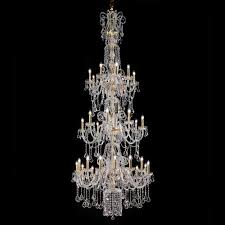 extra large traditional swarovski crystal stairwell chandelier