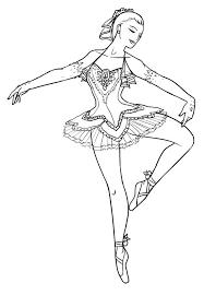 Ballerina Coloring Sheets