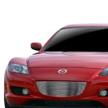 mazda rx8 custom red. apg 1pc brushed horizontal billet main grille mazda rx8 custom red