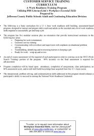 Customer Service Orientation Skills Customer Service Training Curriculum A Pdf