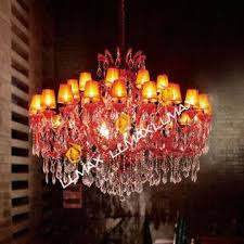 china top quality red color crystal chandelier 1975 crystal modern chandelier factory
