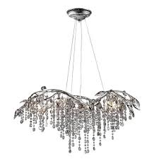 golden lighting autumn twilight mystic silver six light chandelier