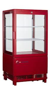 eq red commercial drinks cooler display beverage refrigerator flat glass door
