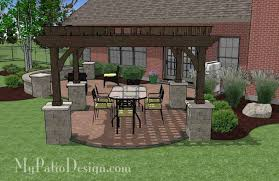 paver patio with pergola. Plain With Patio Designs With Pergola Concrete Paver Design 4  Elegant Sample Create Sketch Rooftop Traditional And P
