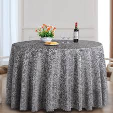 polyester round table cover fabric dining tablecloth for hotel wedding decor