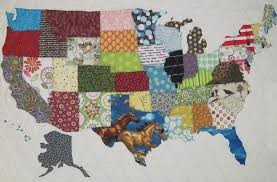 Quilts for Travelers: Map Quilts & More & Check out these fun quilts for travelers and consider stitching one for  someone in your life who loves to see the world! Adamdwight.com