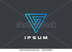 triangle infinity looped geometric shape logo design vector linear template business technology impossible infinite loop