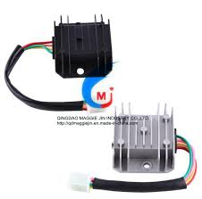 China Motorcycle <b>4 Wires 4 Pins 12</b> Voltage Regulator Rectifier <b>for</b> ...