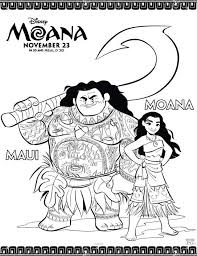 Moana Coloring Pages Free Disney Coloring Pages Disney Activity Page