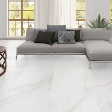 white porcelain tile floor. White Floor Tile Carrara Marble Look Porcelain Black Tiles