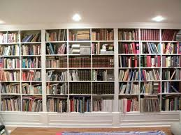 inspiration about gorgeous white wooden built in large bookshelf ideas for home within library bookcase lighting
