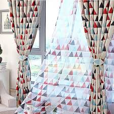 Geometric Pattern Curtains Extraordinary On Sale PolyCotton Red Triangle Geometric Curtains